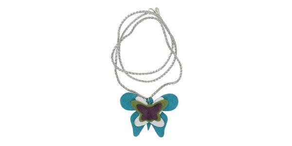 Dámsky náhrdelník Escapulario s tyrkysovým motýlom
