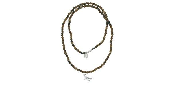 Dámsky dreveným náhrdelník Escapulario s jezevčíkom