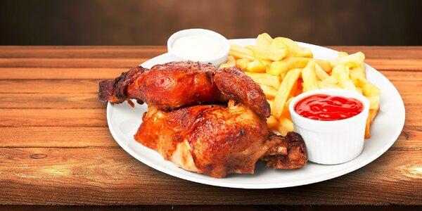 Grilované kurča s domácimi hranolkami