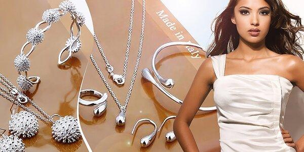 13 druhov šperkových setov z mincového striebra