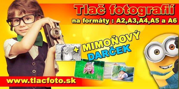 Tlač fotografií vo formáte A6, A5, A4, A3, A2