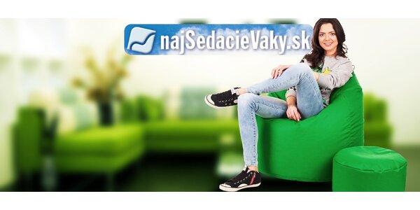 Veľký sedací vak TAKOY XL + podnožka zadarmo!