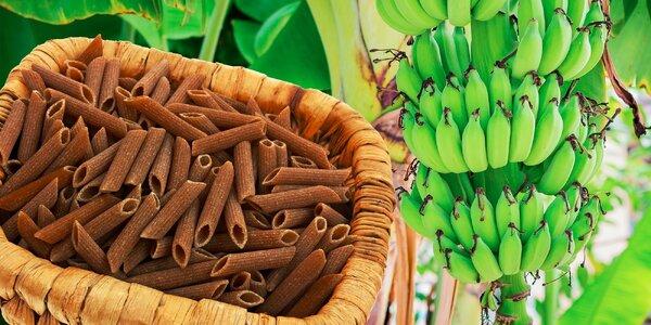 Bezlepkové cestoviny z múky zo zelených banánov
