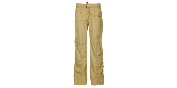 Dámske svetlo hnedé letné nohavice Trimm