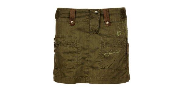 Dámska khaki outdoorová sukňa Trimm