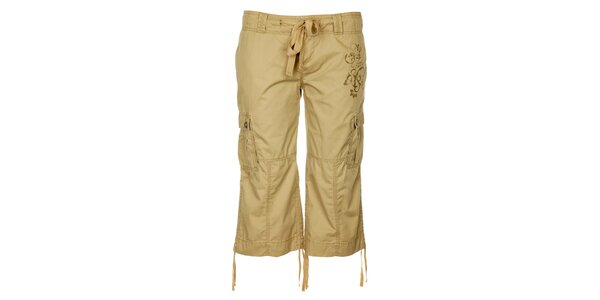 Dámske svetlo hnedé 3/4 outdoorové nohavice Trimm