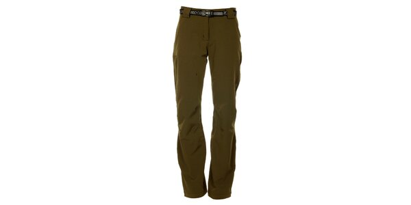 Dámske khaki outdoorové nohavice Trimm