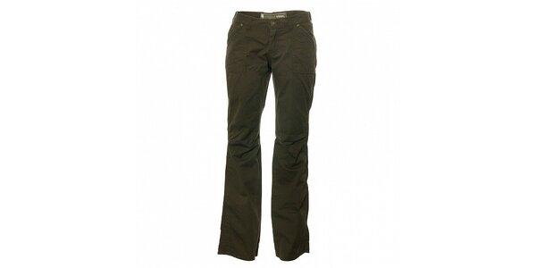 Dámske tmavo zelené nohavice Trimm Laura