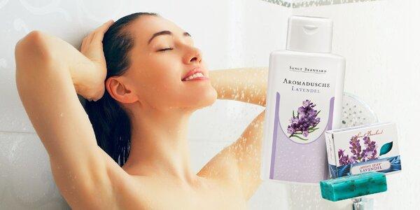 Levanduľový sprchový gél a levanduľové mydlo