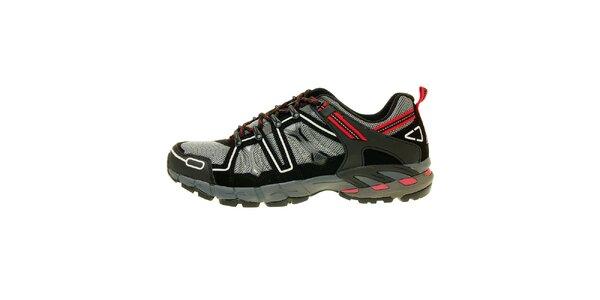 Pánske šedo-červené trekové topánky Trimm