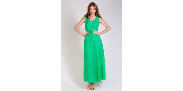 Dámske dlhé zelené šaty Tonala