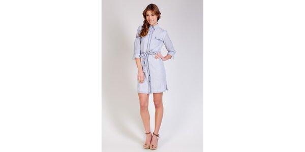 Dámske modro-biele prúžkované šaty Tonala