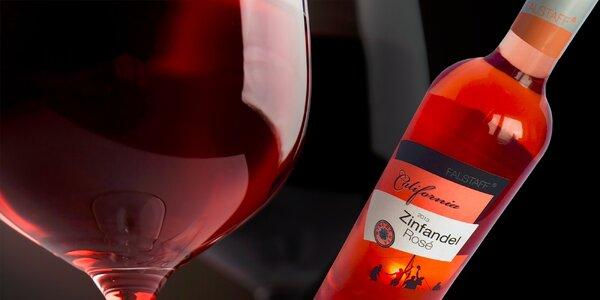 Kartón kalifornského vína Zinfandel Rosé r. 2013