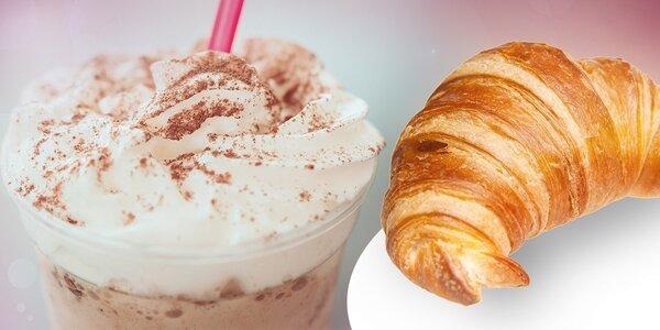 Presso Lavazza alebo Frappe s mliekom a croissant 7 Days