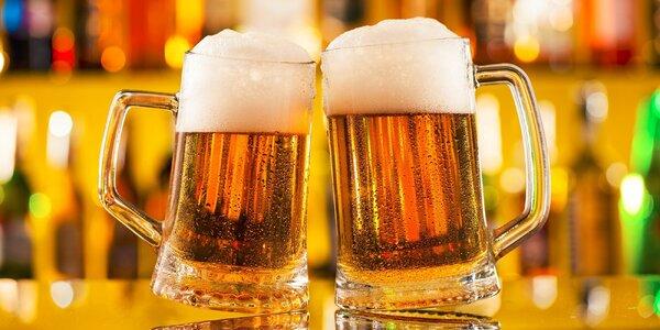 4 veľké čapované pivá Svijany v Starom Meste
