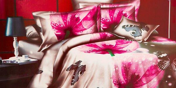Štýlové posteľné obliečky s 3D dizajnom