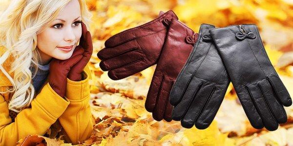 Zateplené kožené rukavičky pre každú elegantnú dámu