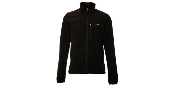 Ľahká pánska čierna softshellová bunda Envy