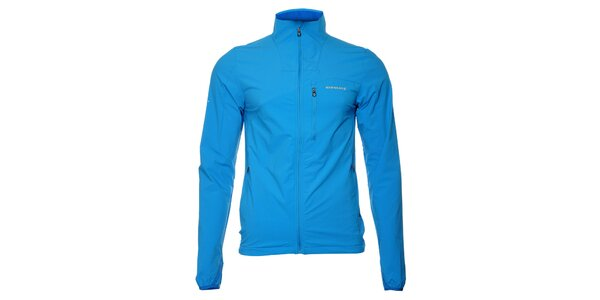 Ľahká pánska žiarivo modrá softshellová bunda Envy