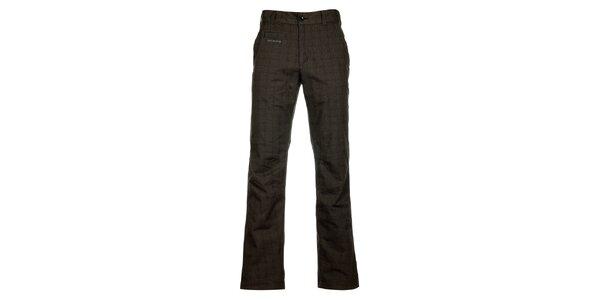 Pánske tmavo šedé kockované nohavice Envy