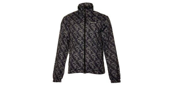 Pánska tmavo šedá softshellová bunda Envy s potlačou