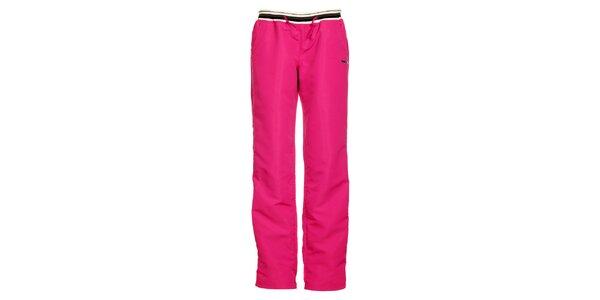 Dámske ružové nylonové tepláky Envy