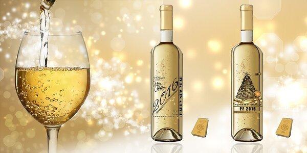 Vianočné Gold Cuvee Label - biele víno 23 karátmi