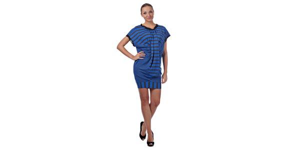 Dámske modré prúžkované šaty Killah