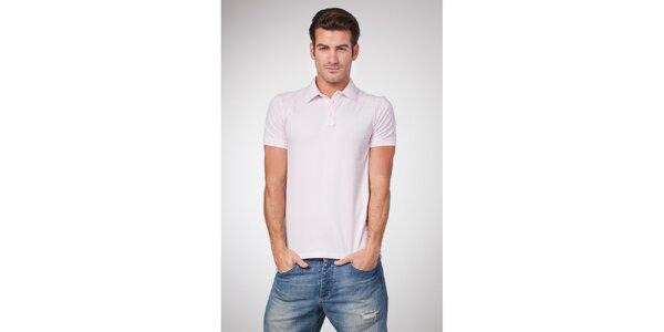 Pánske svetlo ružové polo tričko Bendorff