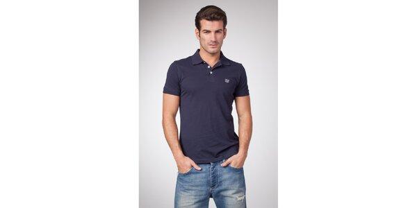 Pánske modré bavlnené polo tričko Bendorff