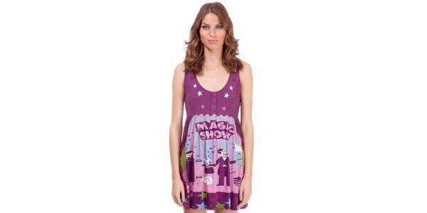 Dámsky fialový top Rosalita McGee s hviezdičkami