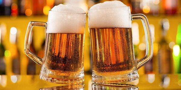3 čapované veľké pivá + 1 veľké pivo ZADARMO