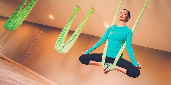 Antigravity jóga - cvičenie a relax v špeciálnej plachte