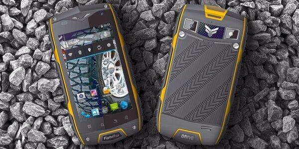 Odolný smartphone FlameFox Drive s powerbankou FlameFox Power