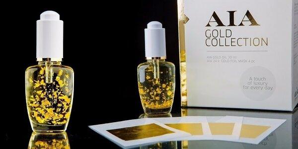 Exkluzívny pleťový a masážny olej s 24-karátovým zlatom