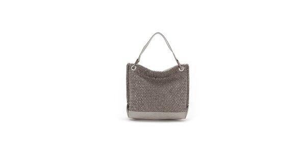 Dámska šedá kabelka s originálnym perforovaním Abbacino