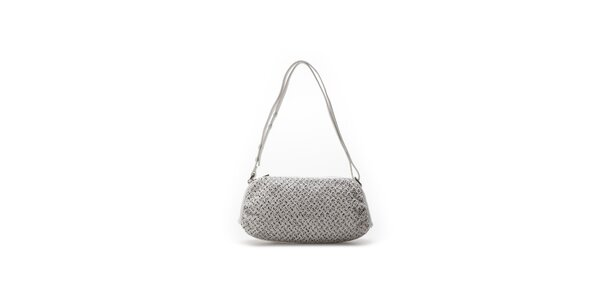 Dámska biela oválna kabelka so vzorom Abbacino