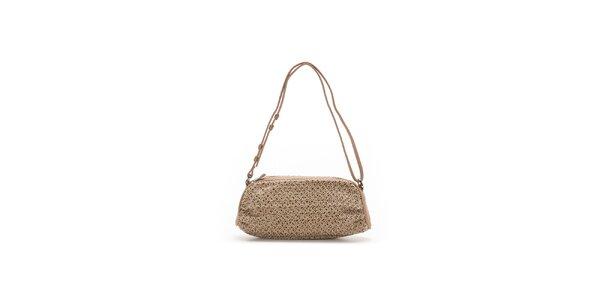 Dámska béžová oválna kabelka so vzorom Abbacino