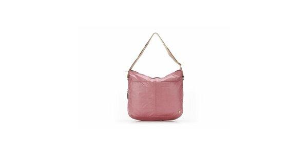 Dámska ružová kabelka s béžovými detailmi Abbacino