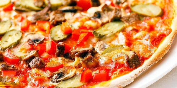 Pizza podľa vlastného vyberu + Kofola zdarma