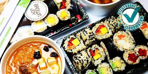 Vegetariánsko-vegánske sushi pre 2 či 4 osoby - take away