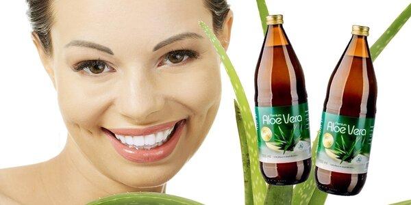 Prírodné 100 % šťavy Allnature Premium Aloe Vera (2×1000 ml)