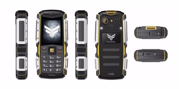 Outdoorový mobilný telefón FLAMEFOX STONE