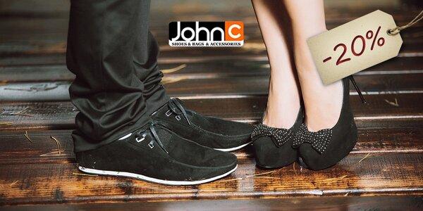20 % zľava na obuv v predajniach JOHNC