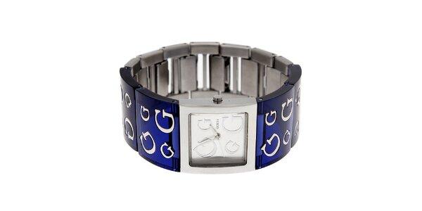 Dámske tmavo modré náramkové hodinky Guess