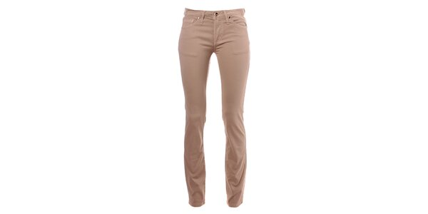 Dámske béžové skinny nohavice Refrigue