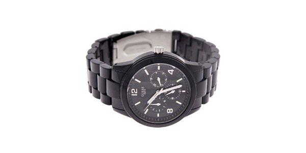 Dámske čierne náramkové hodinky Guess