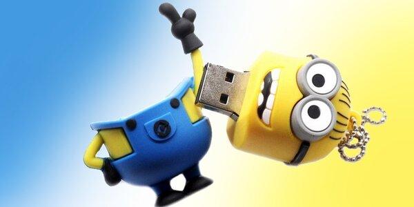 Flash USB kľúč 16 či 32 GB v tvare mimoňa