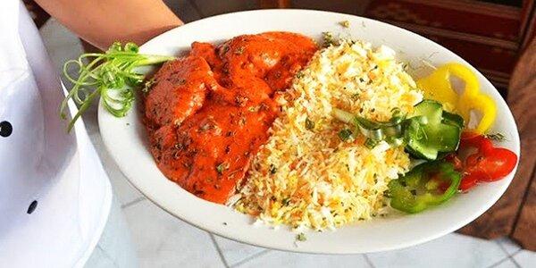 Indická tikka masala s basmati ryžou