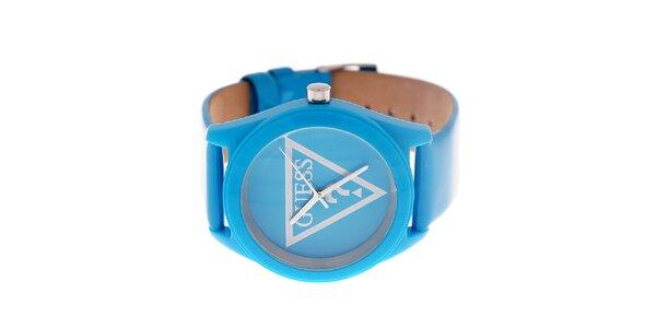 Dámske žiarivo modré hodinky Guess